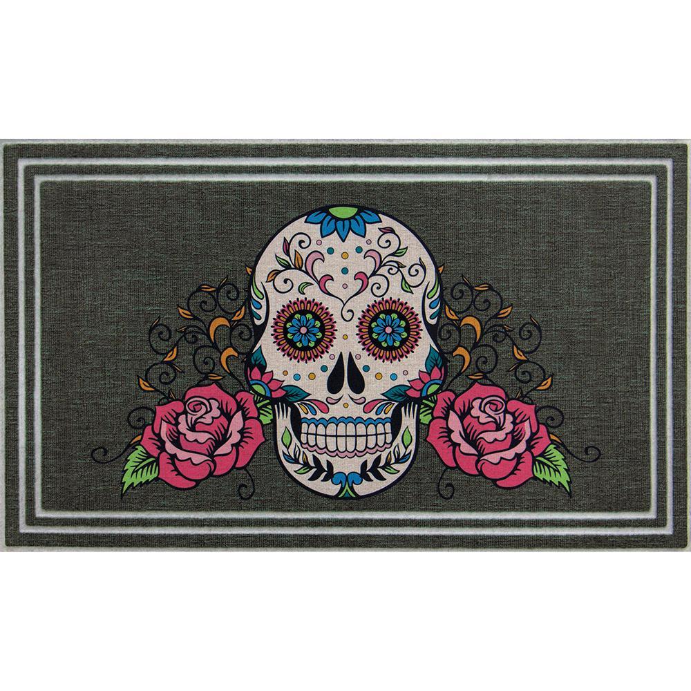 Sugar Skull Pastels 18 in. x 30 in. Door Mat