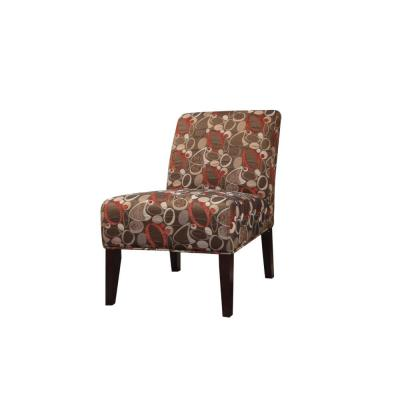 Stylish Fabric Print Accent Chair
