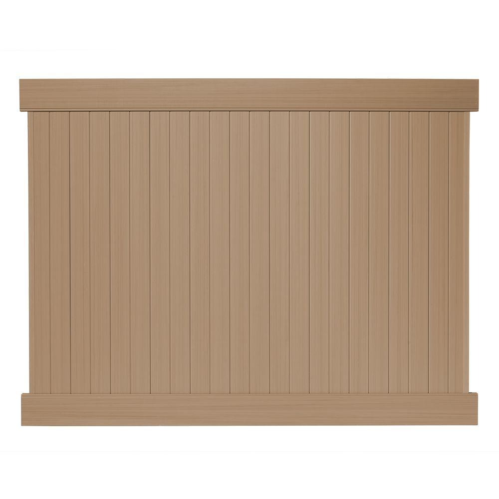 Redwood Vs Cedar >> Veranda 6 Ft H X 8 Ft W Cedar Grove Redwood Vinyl Privacy Fence Panel