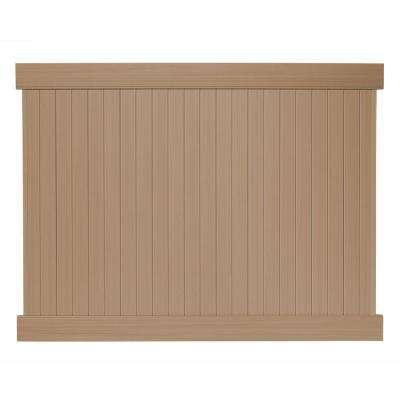6 ft. H x 8 ft. W Cedar Grove Redwood Vinyl Privacy Fence Panel