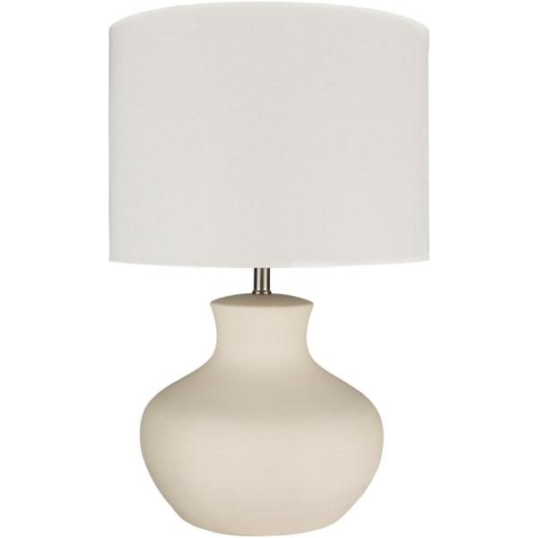 Keith 27 in. Cream Indoor Table Lamp