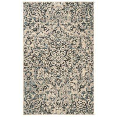 Carmel Ivory/Gray 3 ft. x 5 ft. Area Rug