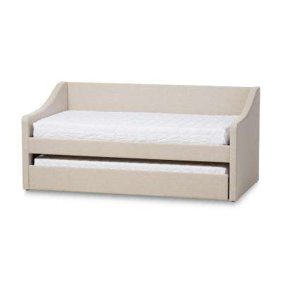 Barnstorm Contemporary Beige Fabric Upholstered Twin Size Daybed