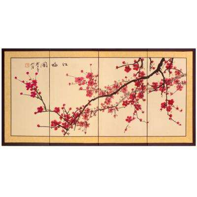 "36 in. x 18 in. ""Plum Tree Chinese Painting"" Wall Art"