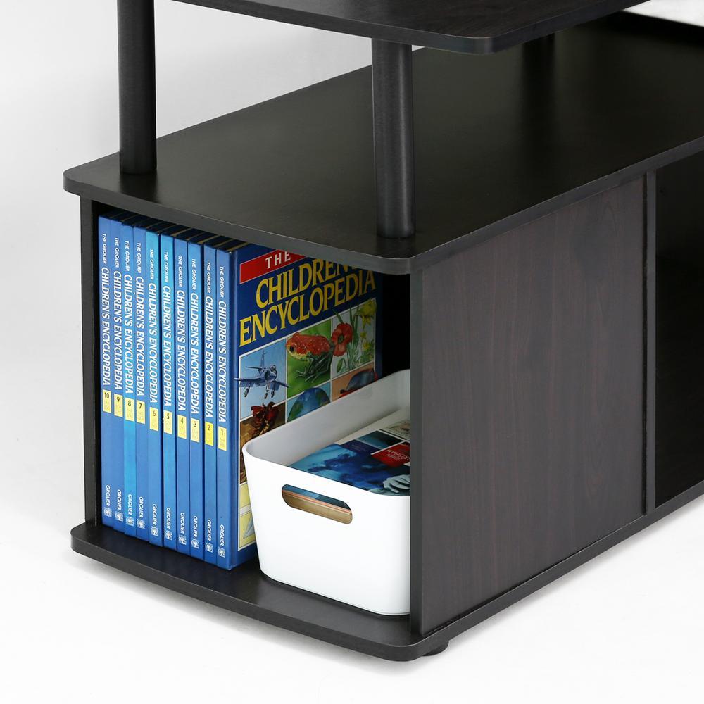 Furinno JAYA Blackwood BuiltIn Storage Coffee Table15115BKW