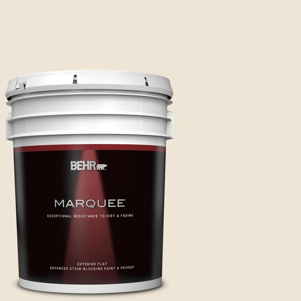 Behr Marquee 5 Gal Pwn 61 Oriental Silk Flat Exterior Paint And Primer In One 445005 The Home Depot