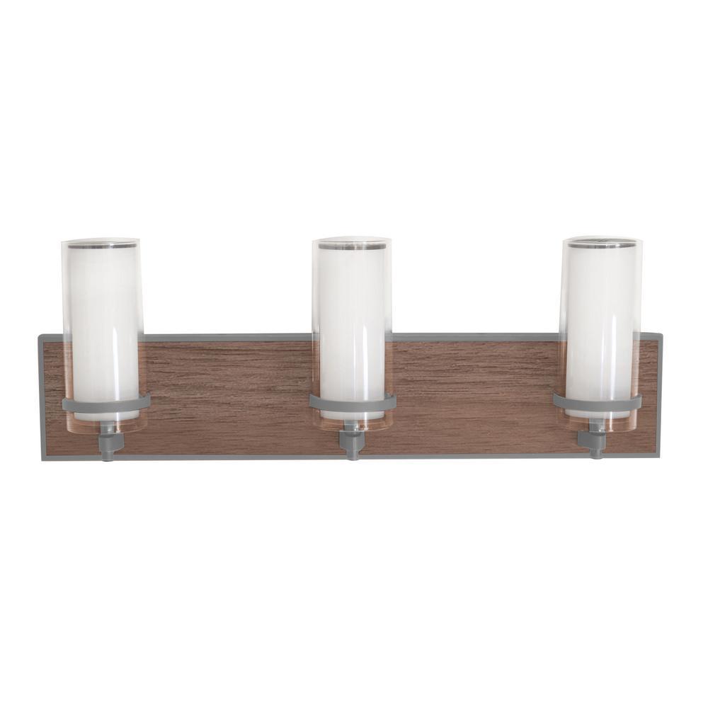 Arden 24-Watt Satin Nickel Integrated LED Bath Light