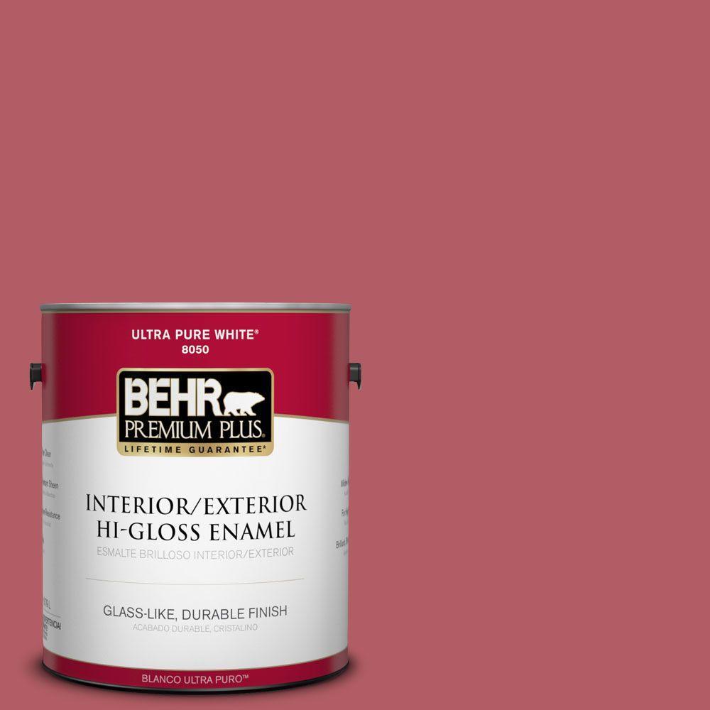 BEHR Premium Plus 1-gal. #BIC-33 Cinnamon Candle Hi-Gloss Enamel Interior/Exterior Paint