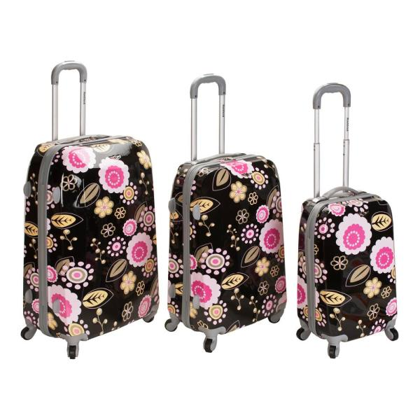 Rockland Rockland 3-Piece Vision Hardside Spinner Luggage set, Pucci F150-PUCCI