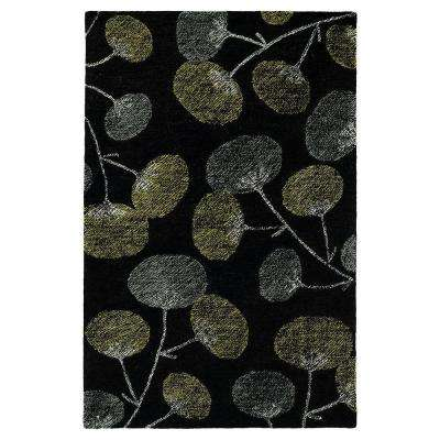 Montage Black 4 ft. x 6 ft. Area Rug
