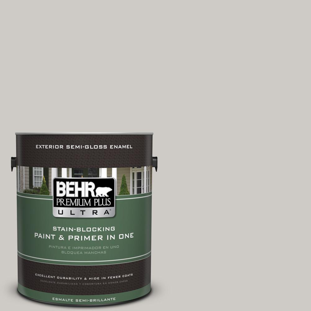 1 gal. #PPU26-10 Chic Gray Semi-Gloss Enamel Exterior Paint
