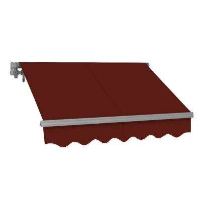 12 ft. SG Series Manual Retractable Patio Awning (118 in. Projection) in Burgundy