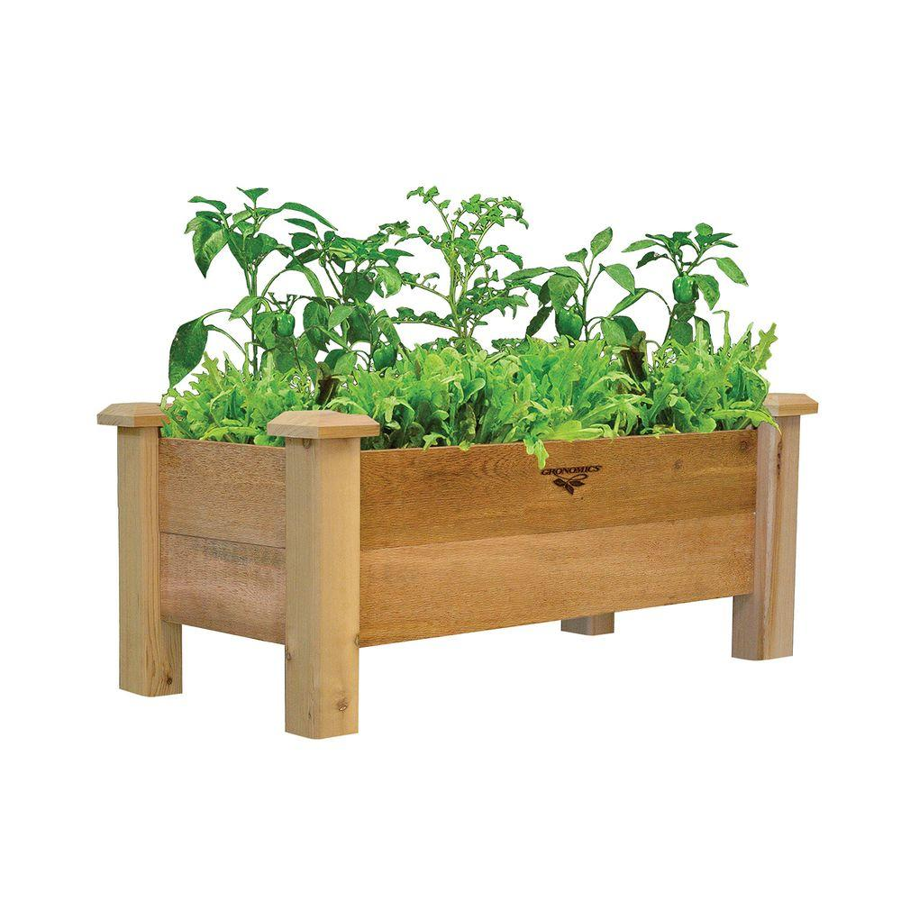 18 in. x 34 in. x 19 in. Rustic Planter Box