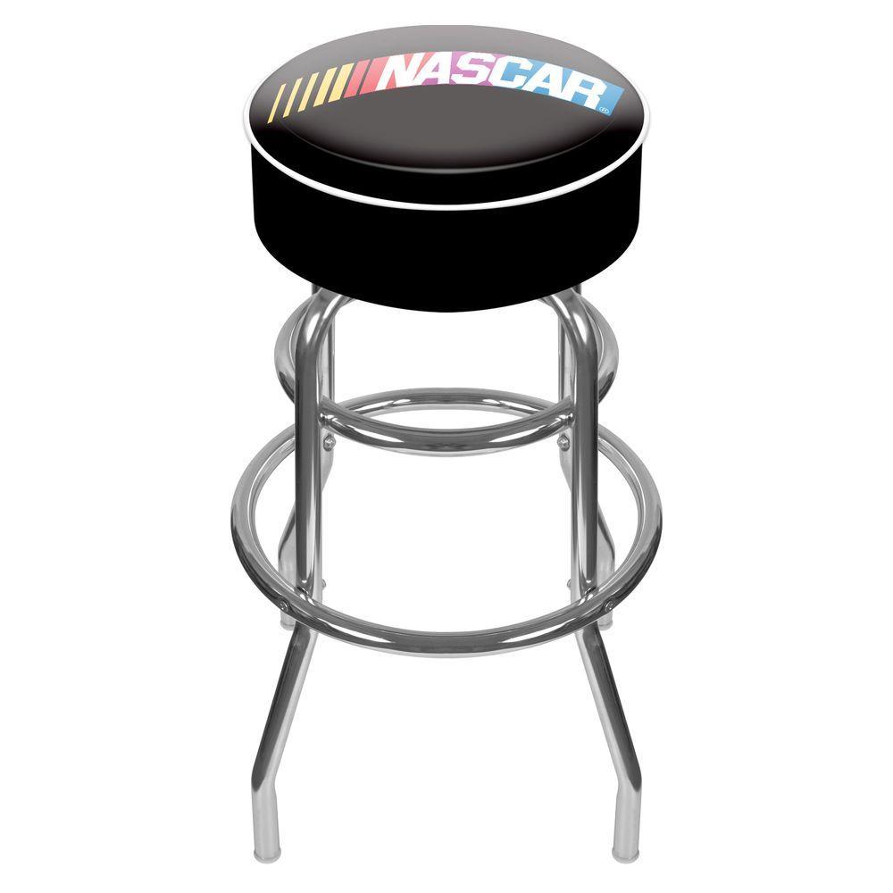 Trademark NASCAR 31 in. Chrome Swivel Cushioned Bar Stool