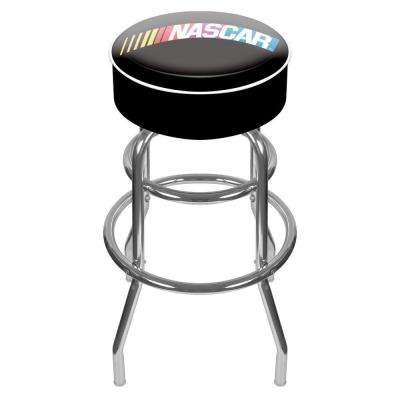NASCAR 31 in. Chrome Swivel Cushioned Bar Stool