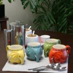 Gibson Home 17.5 oz. Elephant Tusk Assorted Colors Figural Mug (Set of 4)
