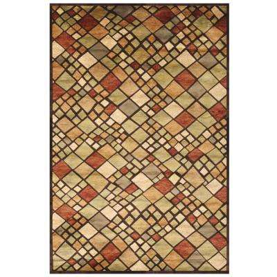 Sonoma Mosaic Chocolate 5 ft. x 8 ft. Area Rug