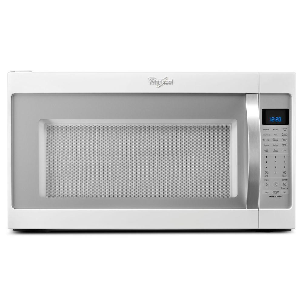 Over The Range Microwave In White Ice With Sensor Cooking Wmh53520ch Home Depot