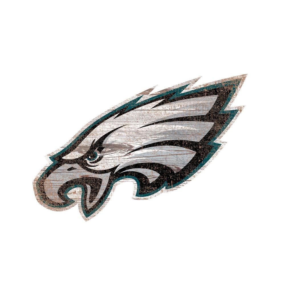 NFL Indoor Philadelphia Eagles Distressed Logo Cutout Wood Sign