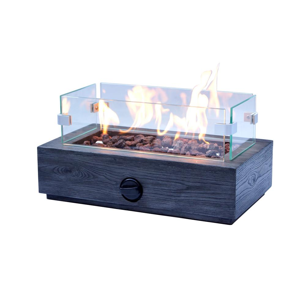 10.6 in. Outdoor Propane Gas Tabletop Firepit
