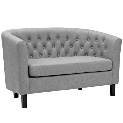 Prospect 49 in. Light Gray Polyester 2-Seater Loveseat with Round Arms