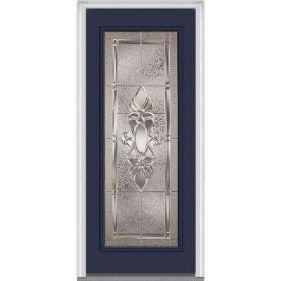 36 in. x 80 in. Heirloom Master Left-Hand Inswing Full Lite Decorative Painted Steel Prehung Front Door