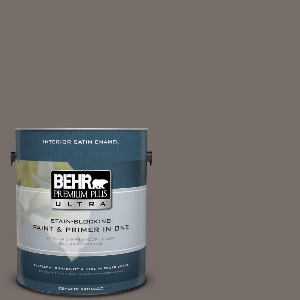 1 gal. #BNC-37 Gray Owl Satin Enamel Interior Paint and Primer