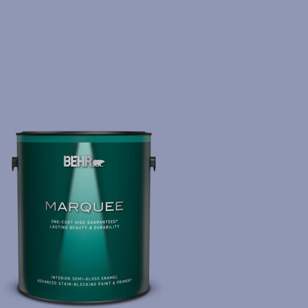 Reviews For Behr Marquee 1 Gal S540 4 Vintage Ribbon One Coat Hide Semi Gloss Enamel Interior Paint Primer 345401 The Home Depot