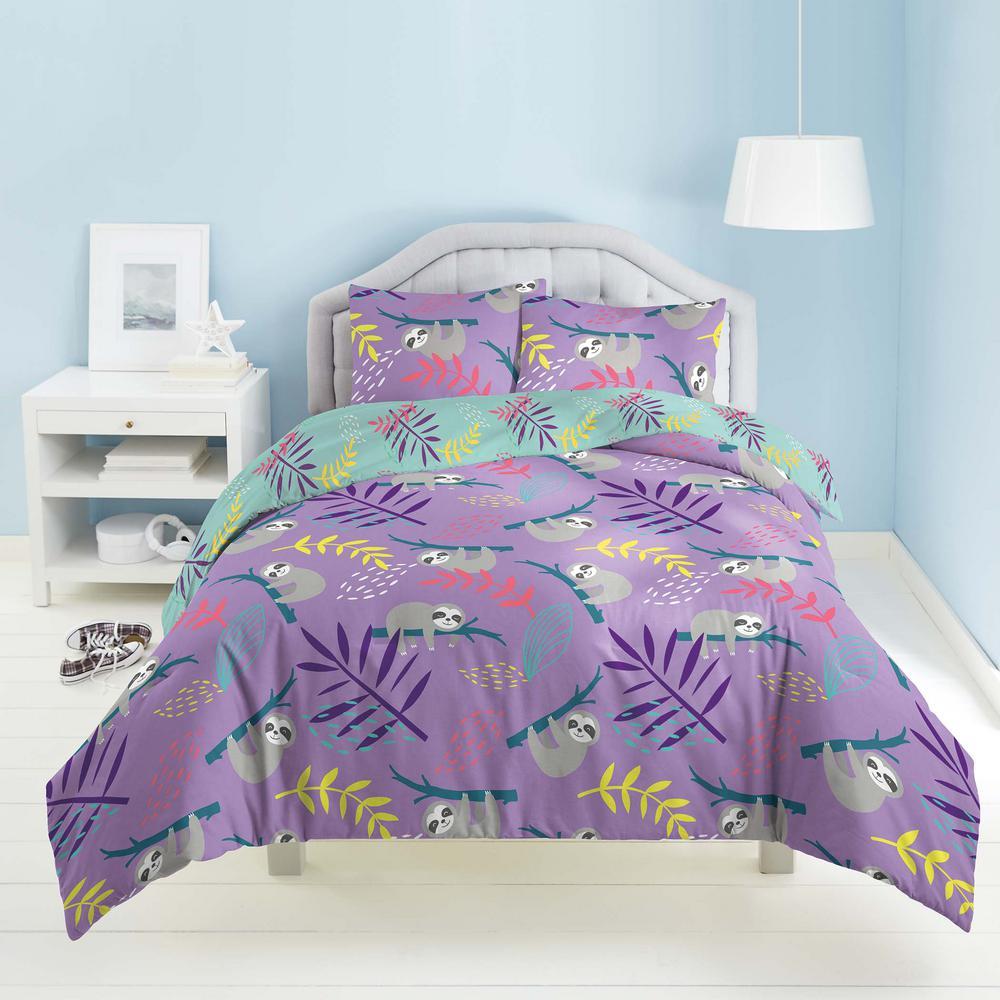 Slothing 3-Piece Multicolored Slothing Around Full Comforter Set