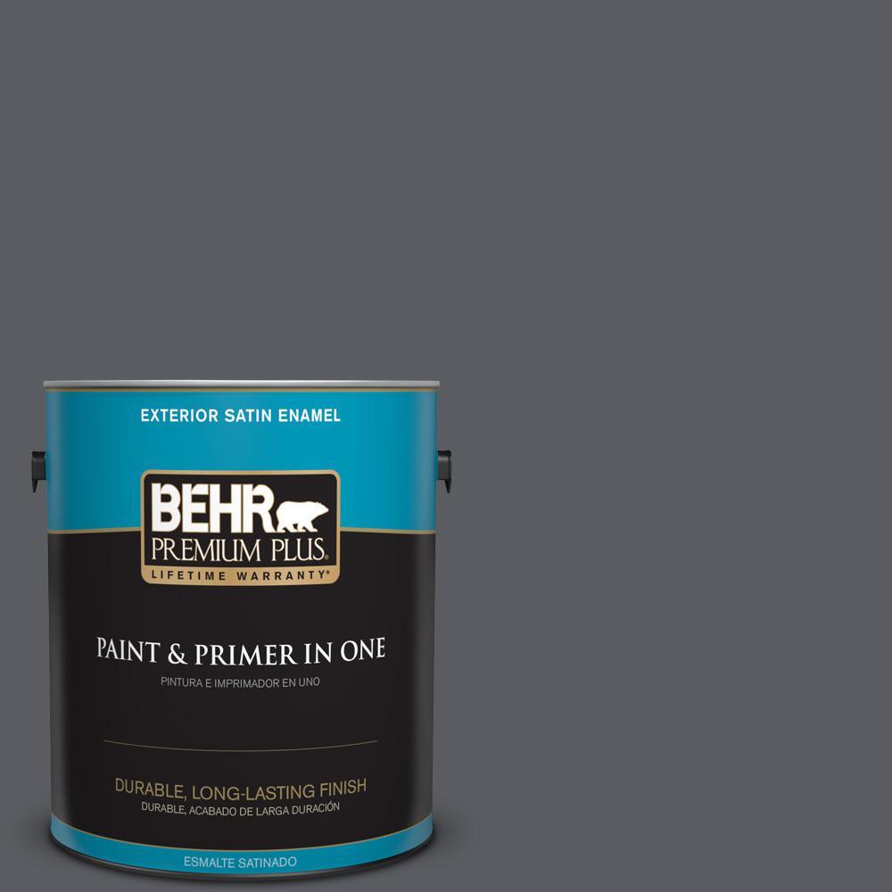 1 gal. #PPU18-02 Pencil Point Satin Enamel Exterior Paint