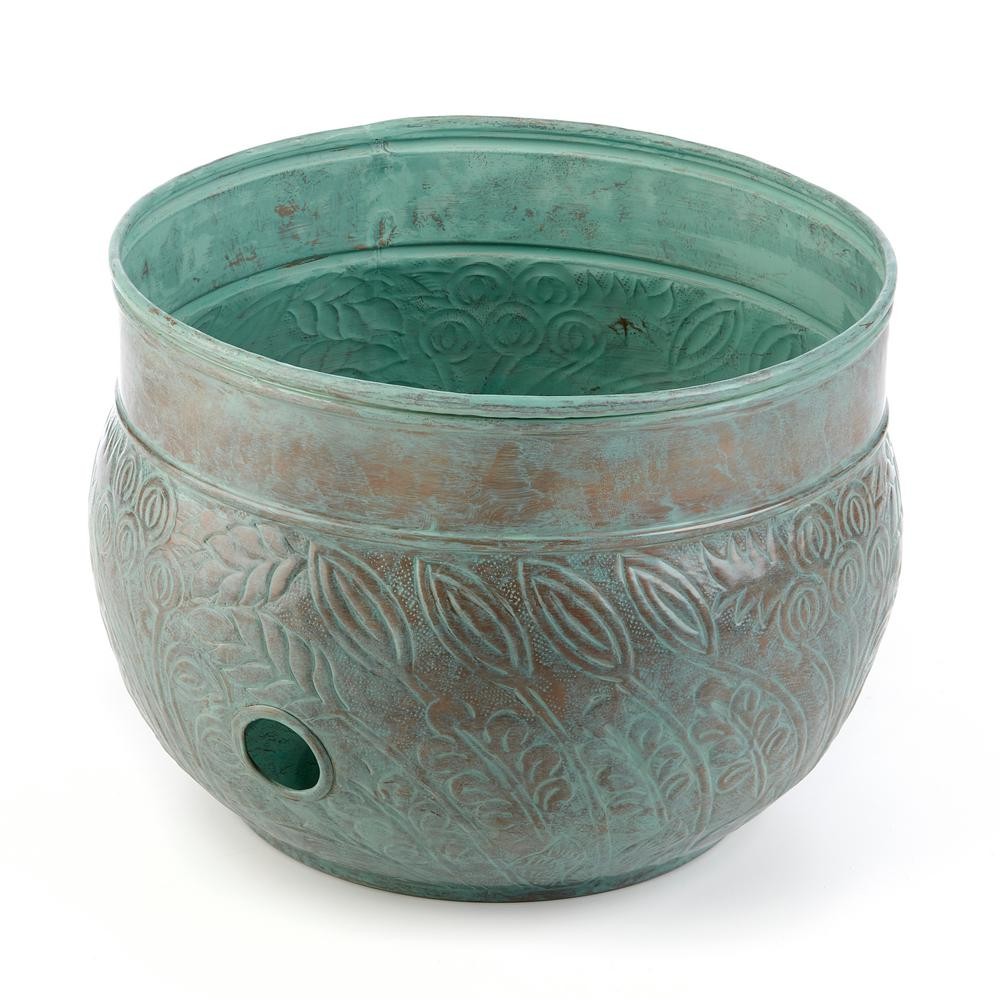 West Hose Pot in Blue Verde Brass Key