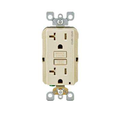 20 Amp 125-Volt AFCI/GFCI Dual Function Outlet, Light Almond