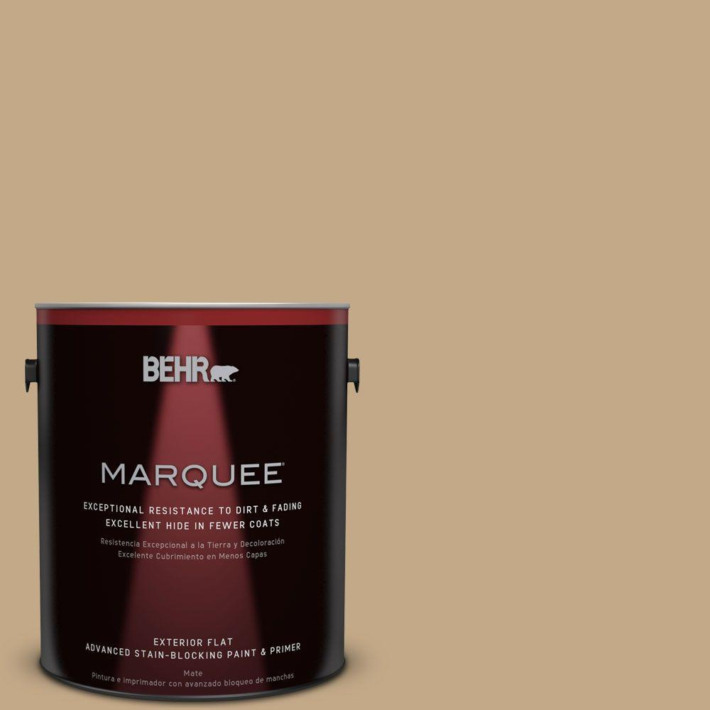 BEHR MARQUEE 1-gal. #ICC-61 Toasted Grain Flat Exterior Paint