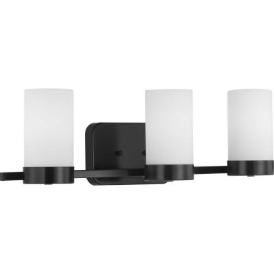 Elevate Collection 3-Light Black Vanity Light