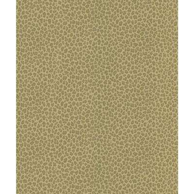 Brown Cheetah Print Wallpaper Sample
