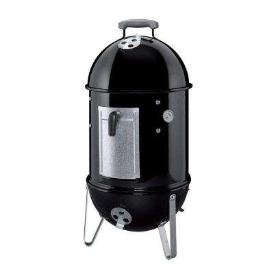 14 in. Smokey Mountain Cooker Smoker in Black with Cover and Built-In Thermometer