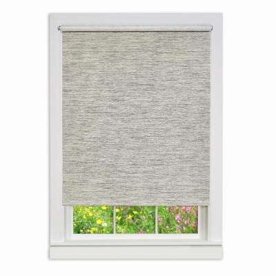 Heather Gray Cordless Paper Privacy Roller Shade - 45 in. W x 72 in. L
