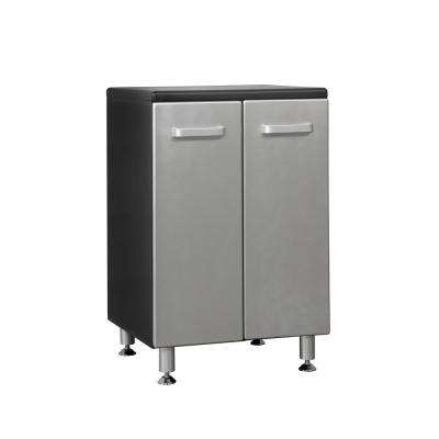 Metallic Series 36 in. H x 24 in. W x 21 in. D Medium Density Fiberboard 2-Door Base Cabinet