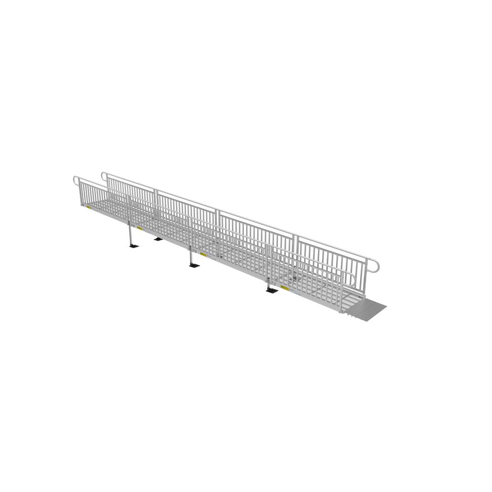 30 ft. Expanded Metal Ramp Kit with Vertical Pickets