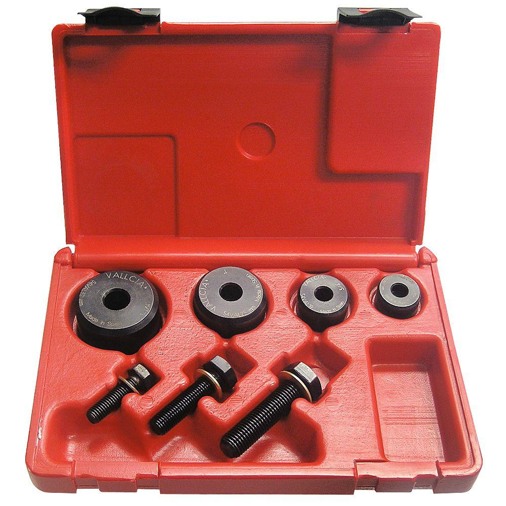 5/8 in. to 1-1/4 in. Boxed Set of Hollow Punches (7-Piece)