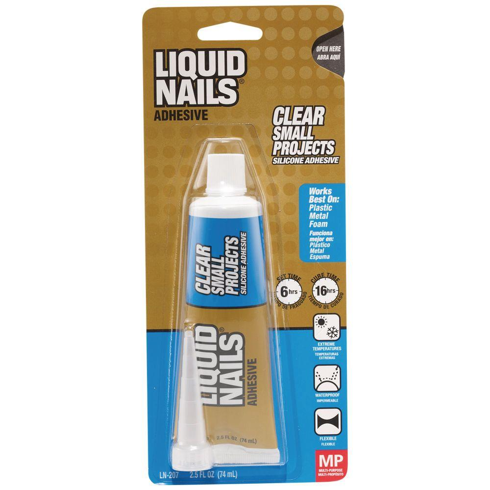 Liquid Nails 2.5 oz. Clear Small Projects Silicone Adhesive