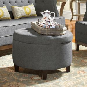 Home Decorators Collection Emma Charcoal Storage Ottoman