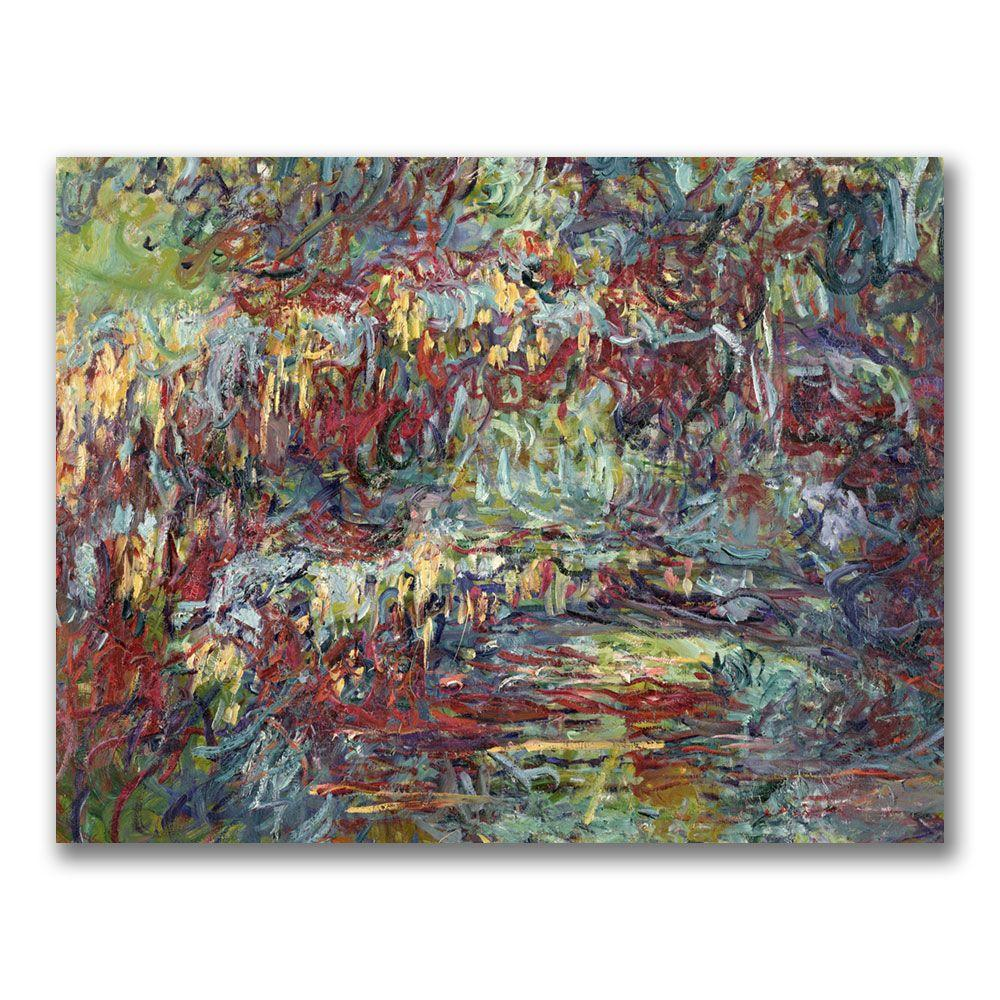 Trademark Fine Art 35 in. x 47 in. The Japanese Bridge Giverny Canvas Wall Art