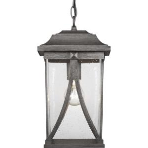 Abbott Collection Antique Pewter 1-Light Hanging Lantern