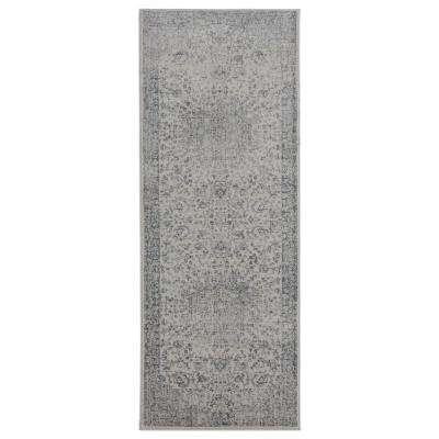 Clairmont Sidon Grey 2 ft. 7 in. x 7 ft. 2 in. Runner Rug