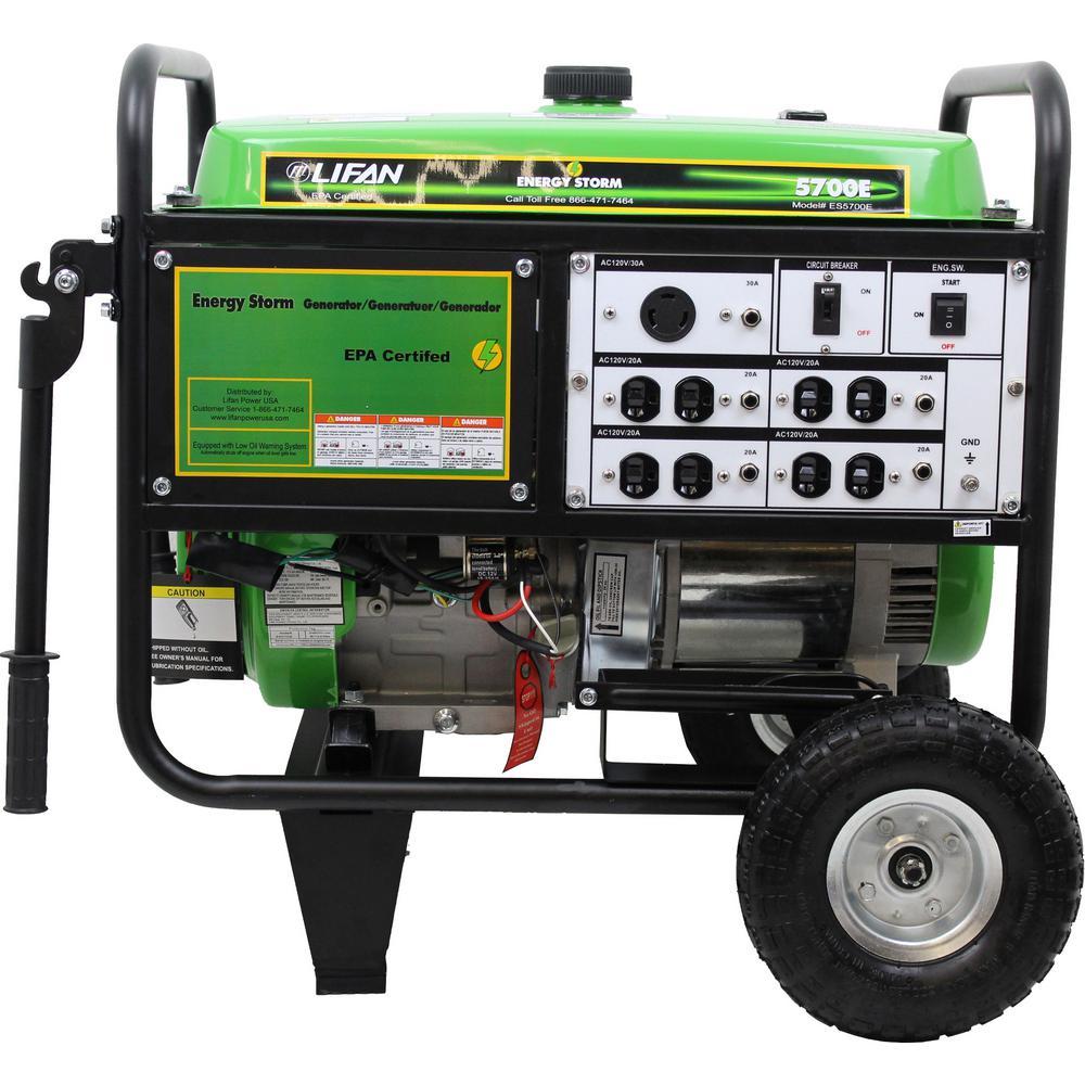 Energy Storm 5,700/5,000-Watt Gasoline Powered Electric Start Portable Generator