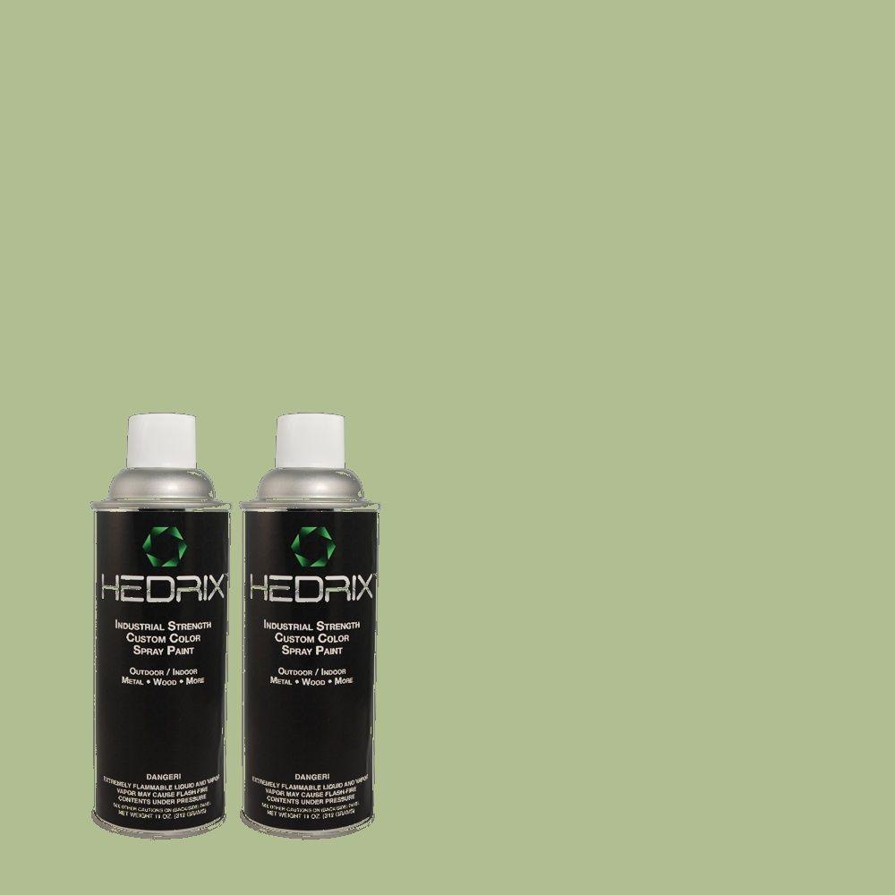 Hedrix 11 oz. Match of 2A59-4 Green Caper Semi-Gloss Custom Spray Paint (2-Pack)