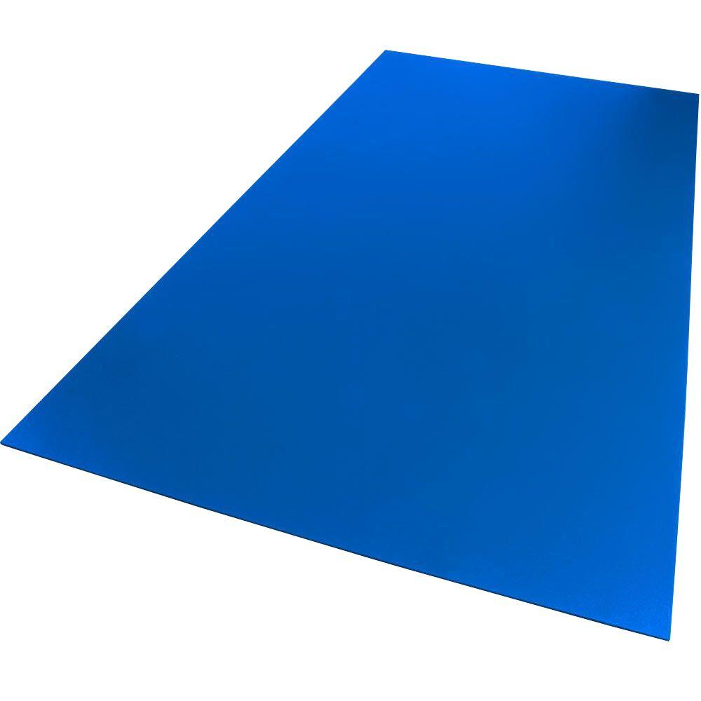 12 in. x 12 in. x 0.118 in. Foam PVC Blue