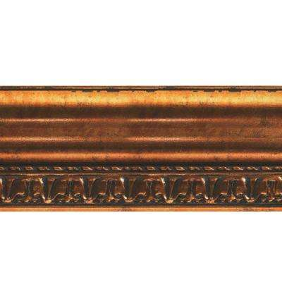 Grand Baroque 1 in. x 6 in. x 96 in. Wood Ceiling Crown Molding in Muted Gold