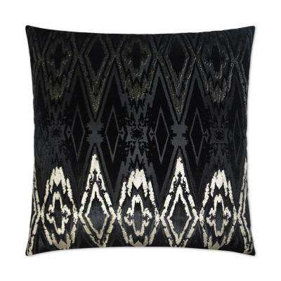 Maximus Black Feather Down 24 in. x 24 in. Standard Decorative Throw Pillow